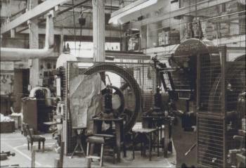 The inside of the Compact Factory, 1950s