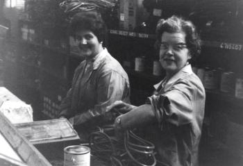 Marion Jones (on the left) working in Hoover, early 1960s