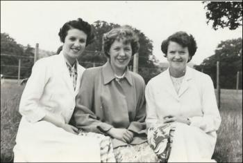 Mair Jones (Williams), Netta Thomas & Ann Gosling, 'Tick Tock' Factory,  1955